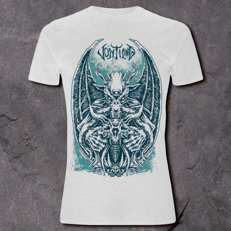 Winged Cthulhu (white)