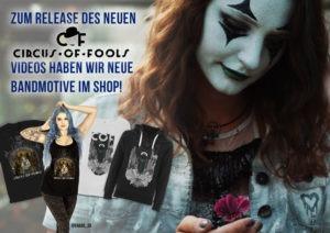 Neues Circus of Fools Merch nun im Shop