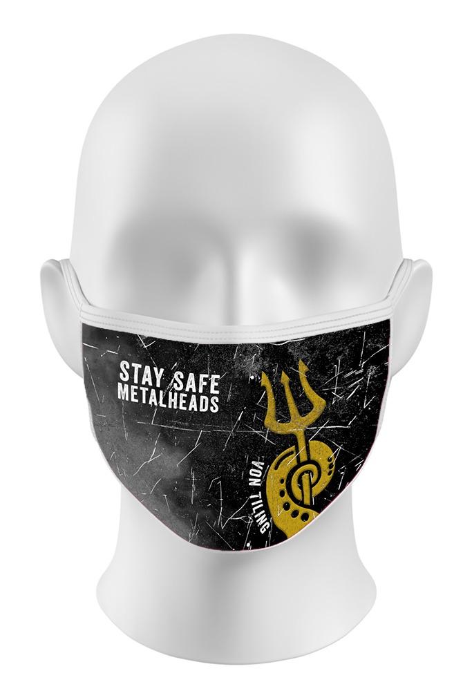 "Gesichtsmaske ""Stay Safe Metalheads"" 1"
